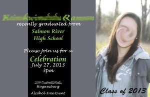 Ransome Grad Party Invite Smudged